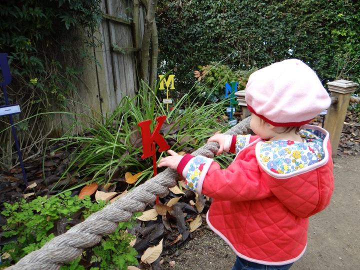E in alphabet garden